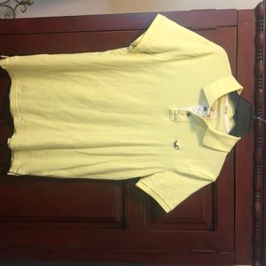 Hollister yellow men's polo